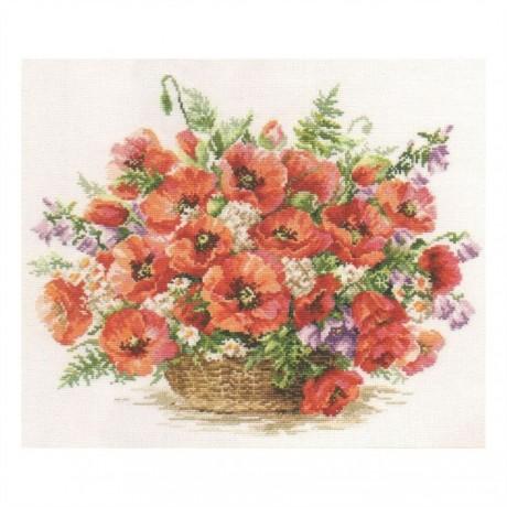 """Alisa siuvinėjimo rinkinys """"Basket of poppies"""""""