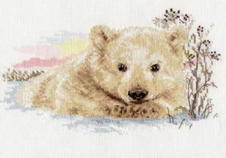 """Alisa siuvinėjimo rinkinys """"Northern Bear cub"""""""