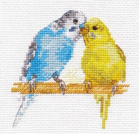 "Alisa siuvinėjimo rinkinys ""Parrots"""