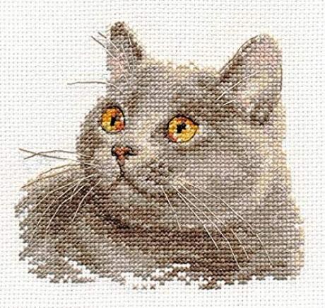 "Alisa siuvinėjimo rinkinys ""British cat"""