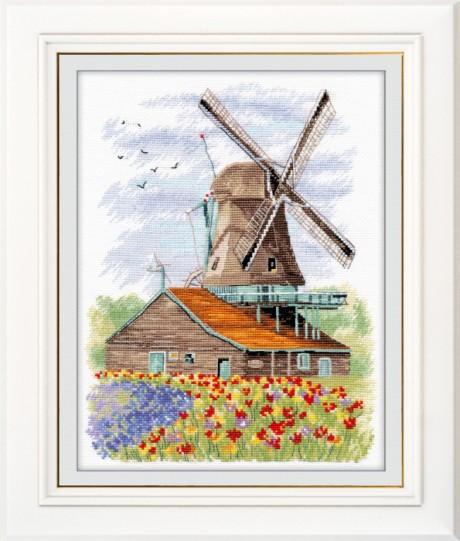 """Oven siuvinėjimo rinkinys """"Windmill. Holland."""""""