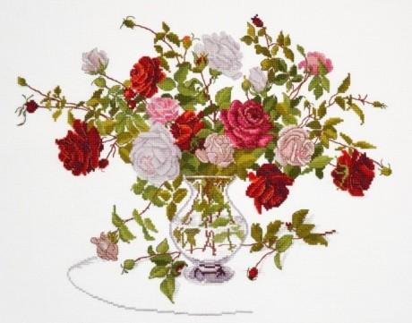 "Oven siuvinėjimo rinkinys ""Bunch of roses"""