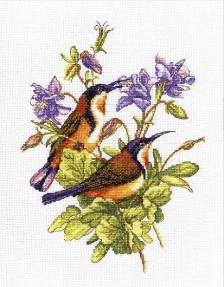 """Oven siuvinėjimo rinkinys """"Maži paukščiukai. Kolibri"""""""