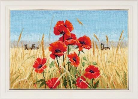 """Oven siuvinėjimo rinkinys """"Summer, field, poppies"""""""