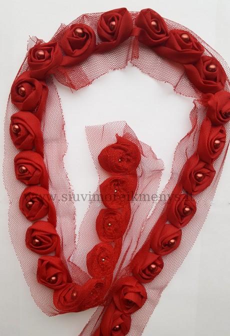 Dekoratyvinė juosta Rožė, sp. raudona