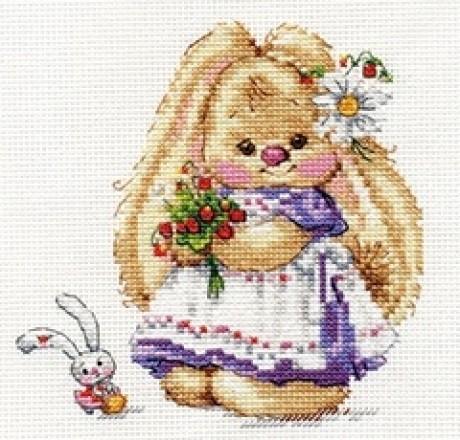 """Alisa siuvinėjimo rinkinys """"Zaika Mi. Strawberry"""""""