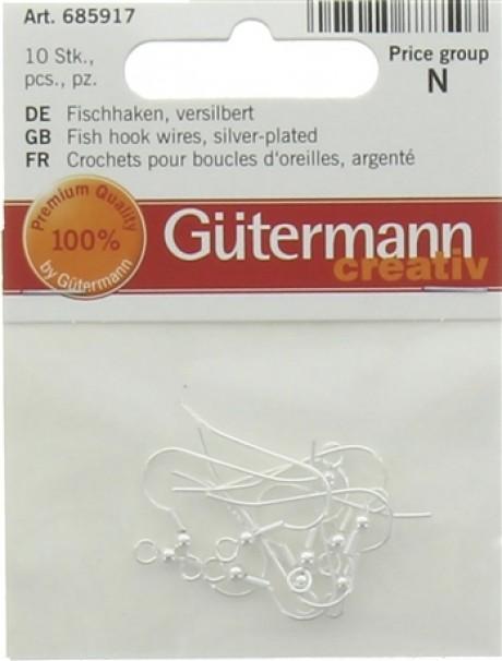 Gutermann kabliukai auskarams 685917