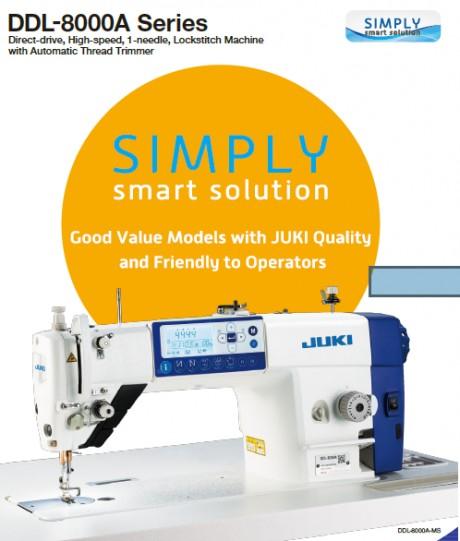 Juki DDL8000A Pilnai automatinė naujos kartos tiesiasiūlė siuvimo mašina su adatos transportavimu