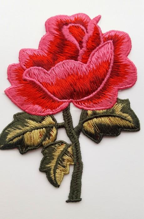Siuvinėta klijuojama aplikacija 2820/22 rožinė