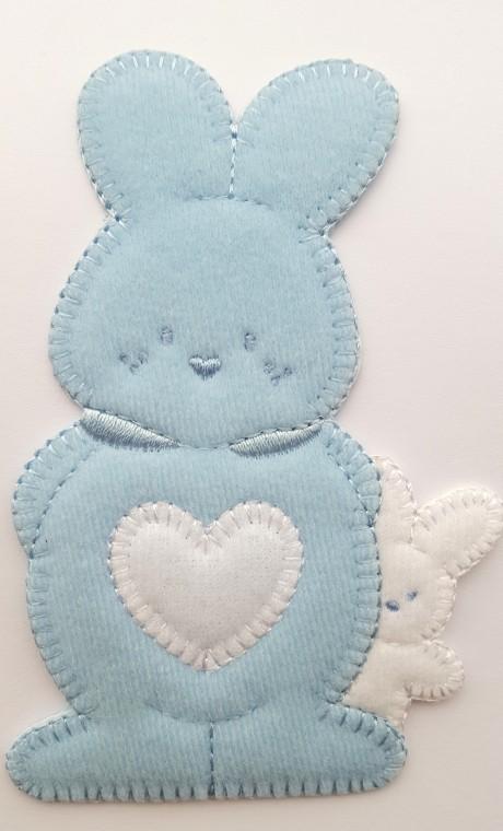 Tekstilinė termo aplikacija 424 mėlyna