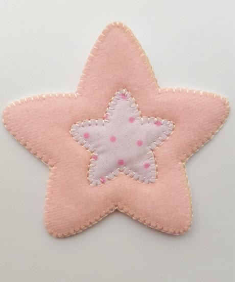 Tekstilinė termo aplikacija 359 rožinė