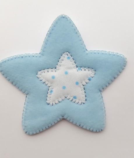Tekstilinė termo aplikacija 359 mėlyna