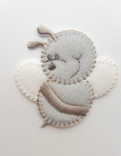 Tekstilinė termo aplikacija 032/167 pilka