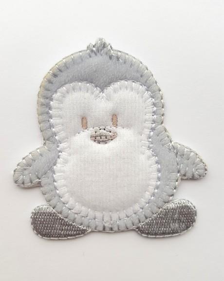 Tekstilinė termo aplikacija 032/167 pingvinas pilkas