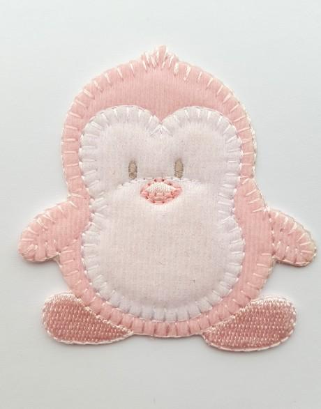 Tekstilinė termo aplikacija 032/167 pingvinas rožinis