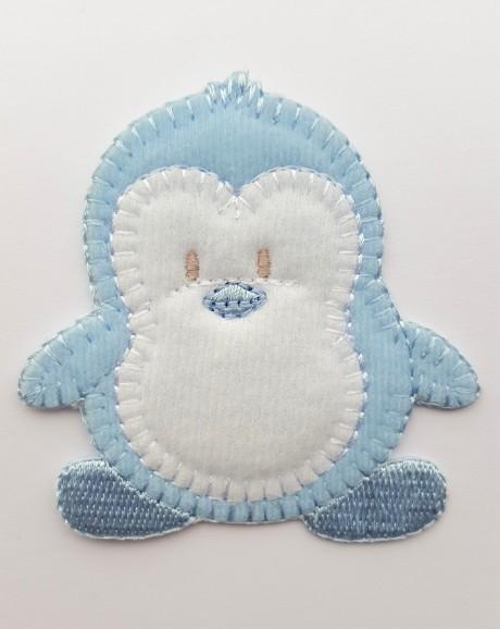 Tekstilinė termo aplikacija 032/167 pingvinas mėlynas