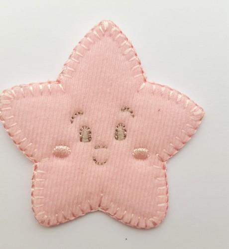 Tekstilinė termo aplikacija 269/857 žvaigždė rožinė