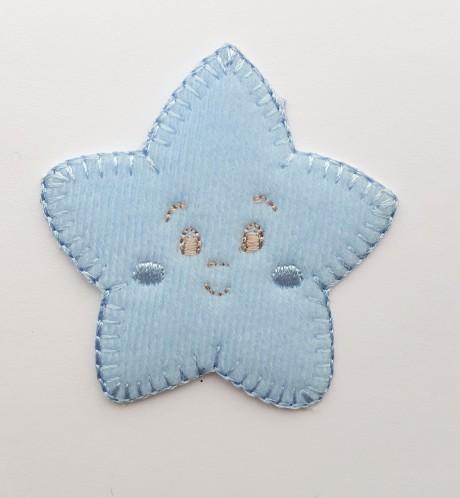 Tekstilinė termo aplikacija 269/857 žvaigždė mėlyna