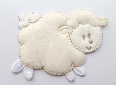 Tekstilinė termo aplikacija 500 balta