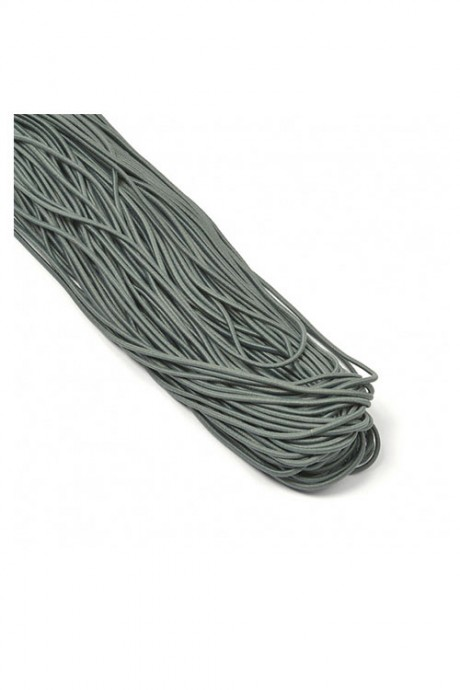 Apvali guma (elastinė virvutė) ~1 mm, sp. pilka