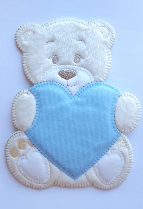 Tekstilinė termo aplikacija 867 mėlyna