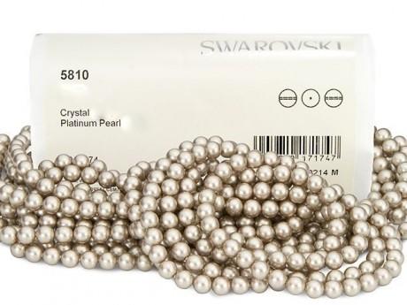Perlai 5810/8 Crystal Platinum Pearl