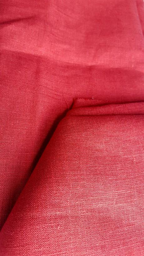 Lino audinys 05c212, raudona, atraiža 126 cm