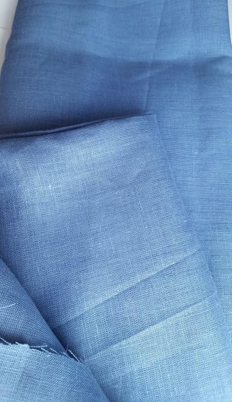 Lino audinys 05c212, š. mėlyna, atraiža 165 cm
