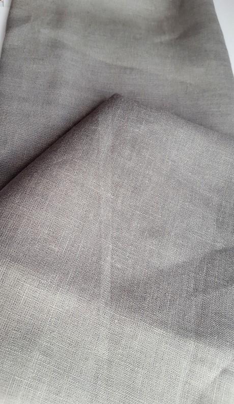 Lino audinys 05c212, pilka, atraiža 105 cm