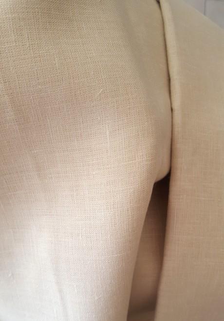 Lino audinys drabužiams, namų tekstilei, atraiža 144 cm, biežinė 4c33
