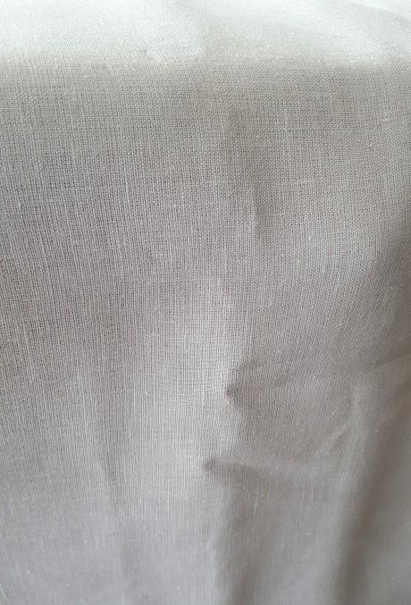 Lino audinys drabužiams, namų tekstilei, atraiža 169 cm, pilkšvai-biežinė 4c33