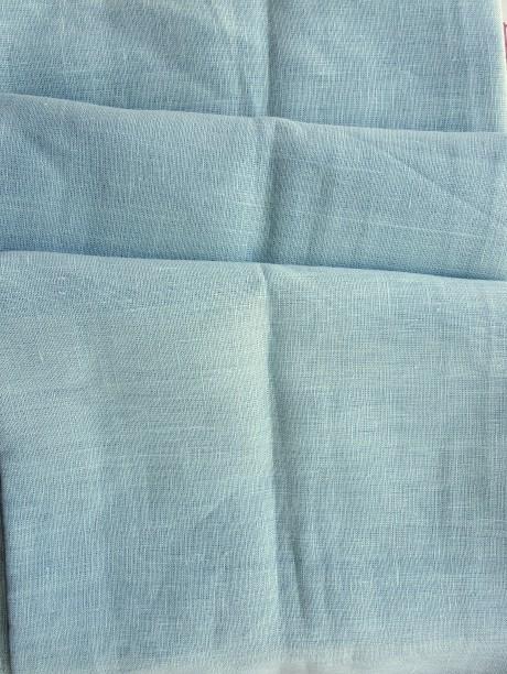 Lino audinys drabužiams, namų tekstilei, atraiža 141 cm, mėtinė 4c33