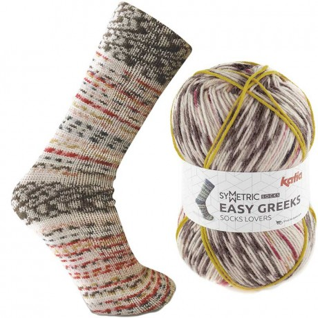 Mezgimo siūlai kojinėms Katia easy greeks socks 71