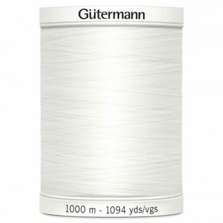 Gütermann siuvimo siūlai 1000 m, sp. balta