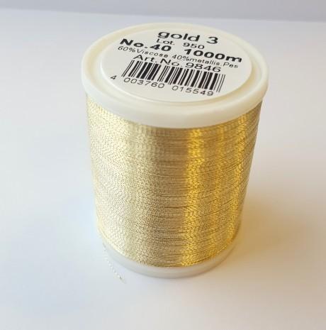 Madeira metalizuoti siuvinėjimo siūlai gold 3 art. 9846