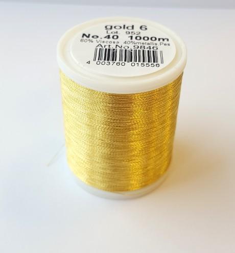 Madeira metalizuoti siuvinėjimo siūlai gold 6 art. 9846