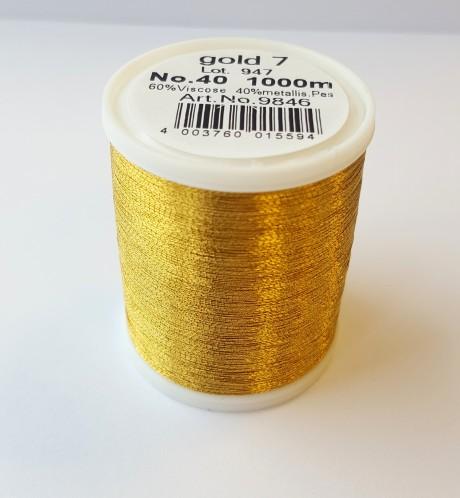 Madeira metalizuoti siuvinėjimo siūlai gold 7 art. 9846
