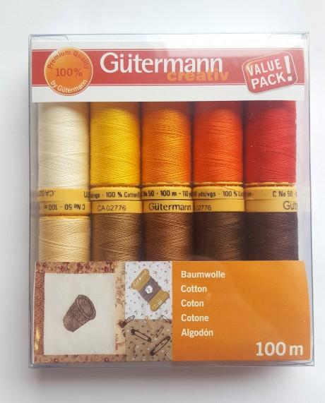 Gütermann medvilninių siūlų rinkinys 734521, col. 4