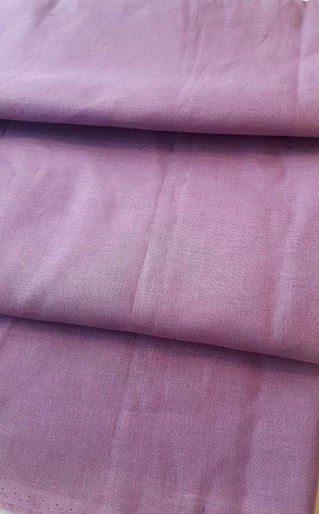 Lino audinys drabužiams, atraiža 172 cm, violetinė 00c34