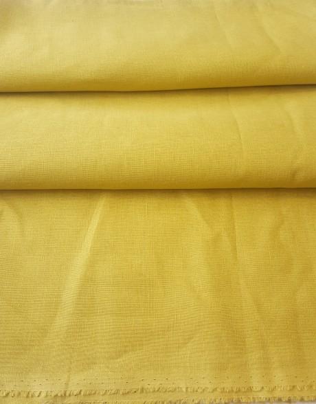 Lino audinys drabužiams, atraiža 155 cm, žalsvai - geltona 00c34