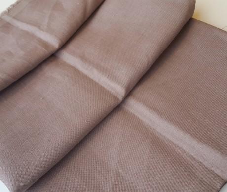 Lino audinys drabužiams, atraiža 125 cm, kapučino 15c644