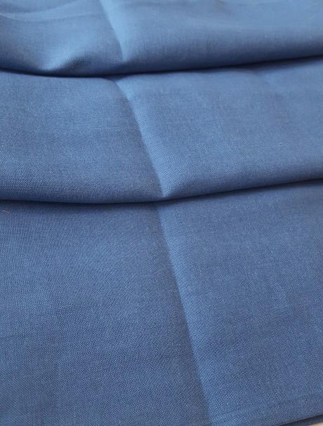 Lino audinys drabužiams, atraiža 128 cm, mėlyna 15c644