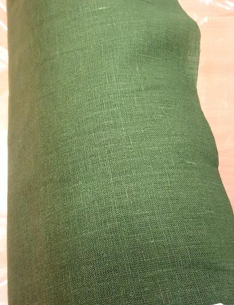 Lino audinys drabužiams, namų tekstile žalia 09c52