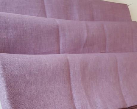 Lino audinys drabužiams, namų tekstilei, atraiža 194 cm, šviesiai violetinė 4c33