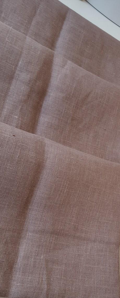 Lino audinys drabužiams, namų tekstilei, atraiža 144 cm, kapučino 4c33