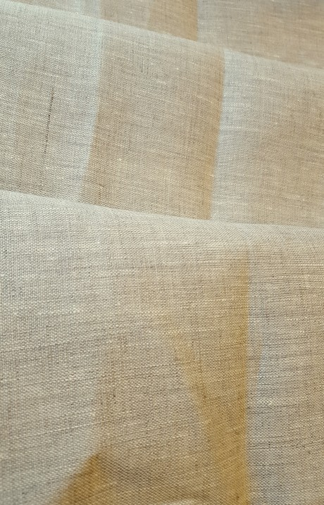 Dekoratyvinis lino audinys, atraiža 123 cm, natūralus linas, 9c93