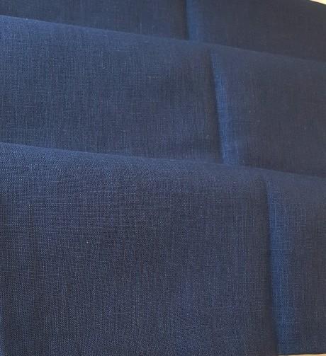 Lino audinys drabužiams, namų tekstilei, atraiža 160 cm, mėlyna 4c33