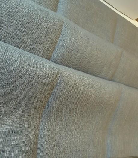 Lino audinys drabužiams, namų tekstilei, atraiža 116 cm, pilkas 4c33