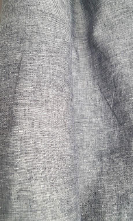 Dekoratyvinis lino audinys namų tekstilei 03с68, pilkas