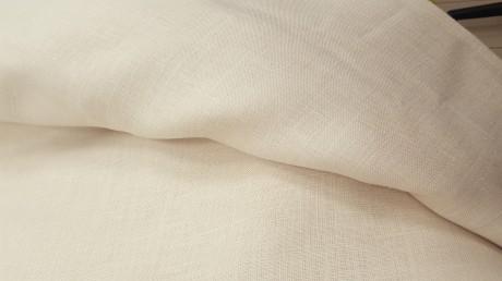 Lino audinys drabužiams, namų tekstilei, atraiža 185 cm, šviesiai biežinė 4c33